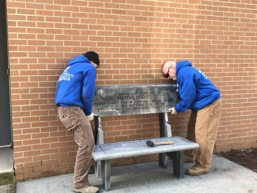 New Bench in Honor of Mr. Hughes